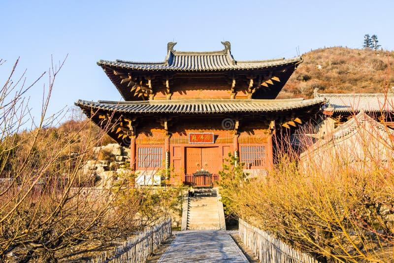 Escena-hierro Buda Pasillo de Tai-Yuan del templo de Kaihuo imágenes de archivo libres de regalías