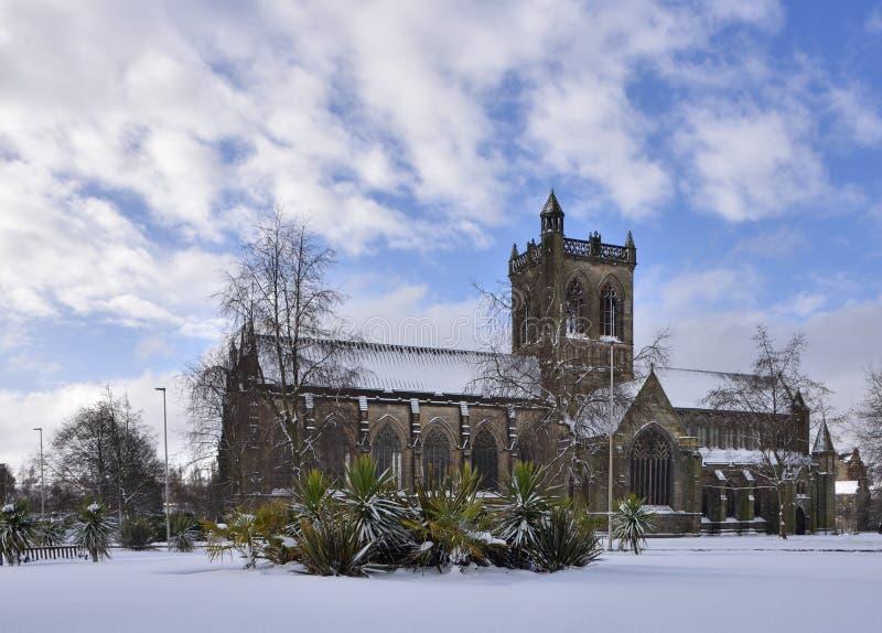 Escena histórica del invierno de Paisley foto de archivo