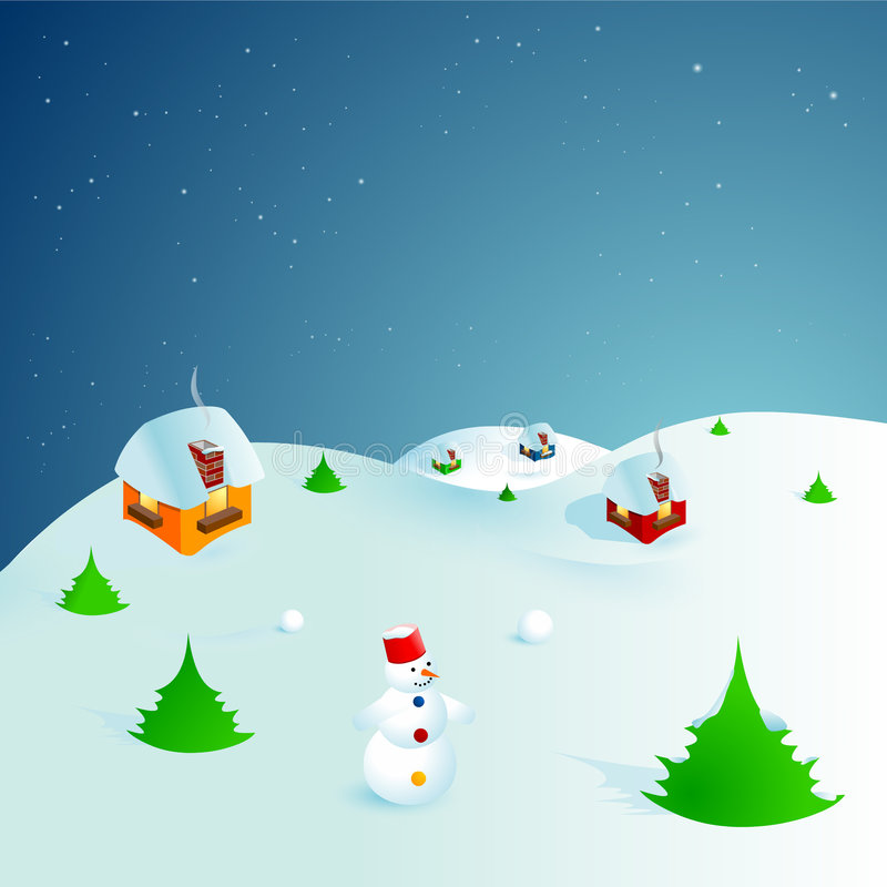 Escena II del invierno libre illustration