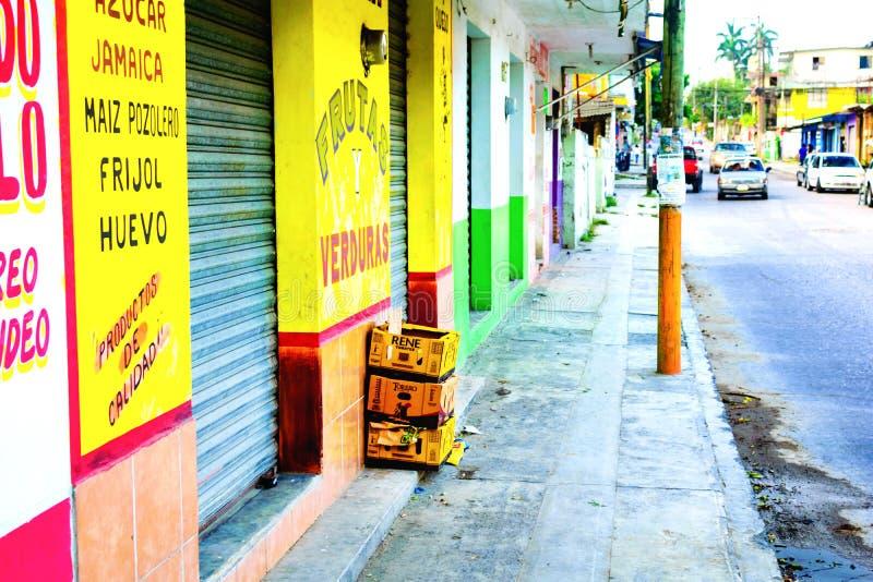 Escena mexicana de la calle fotos de archivo