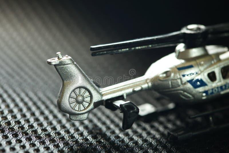 Escena modelo del helicóptero miniatura imágenes de archivo libres de regalías
