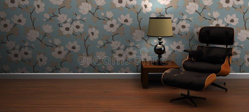 Escena moderna de la silla y del vector de salón libre illustration