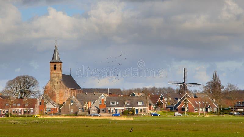 Escena Países Bajos del pueblo rural foto de archivo