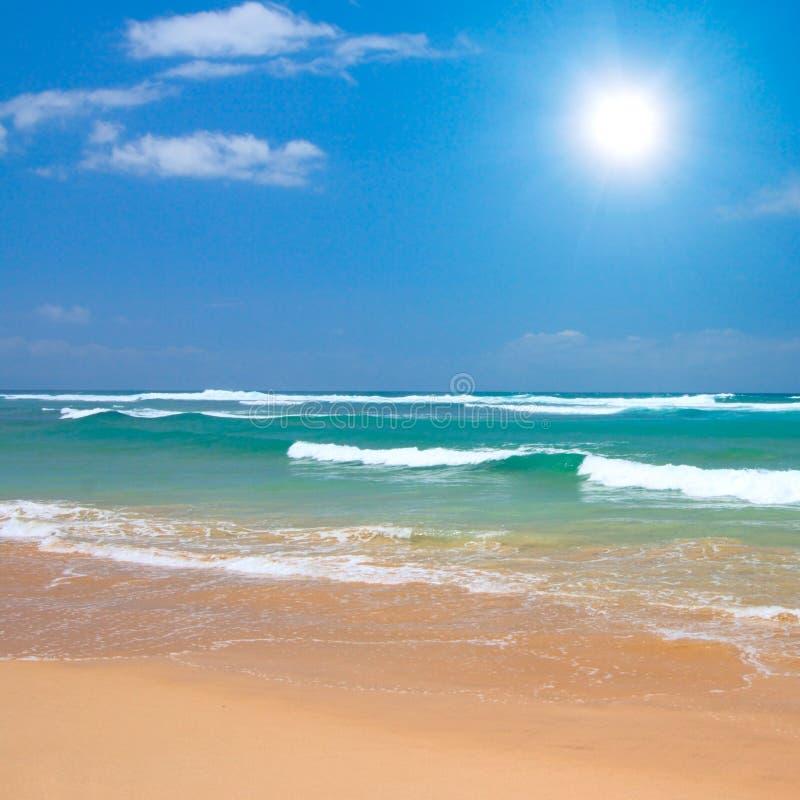 Escena pacífica de la playa imagen de archivo