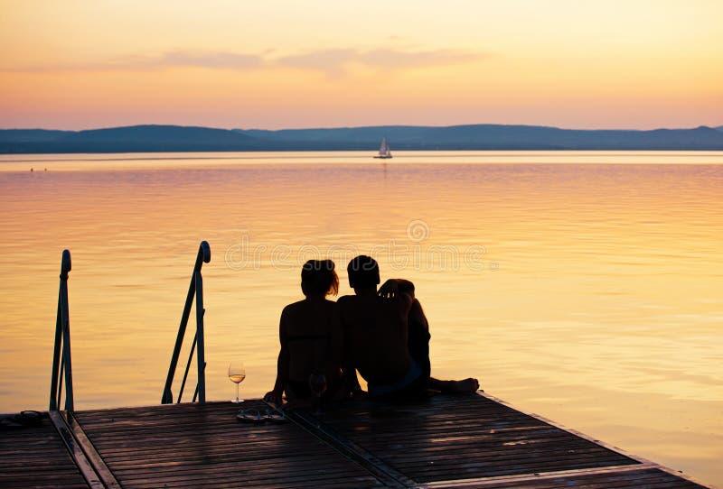 Escena romántica imagen de archivo
