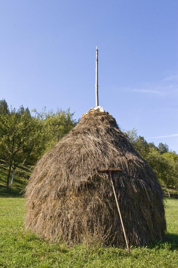 Escena rural del haystack tradicional fotografía de archivo libre de regalías