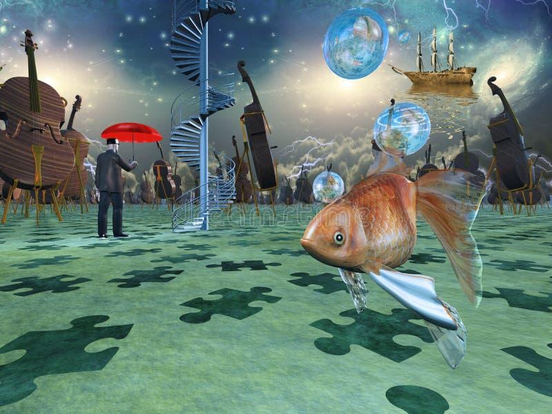 Escena surrealista ilustración del vector