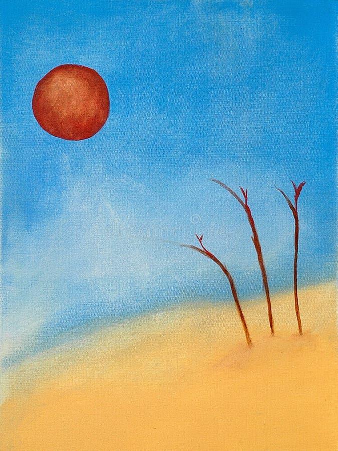 Escena surrealista de la playa libre illustration