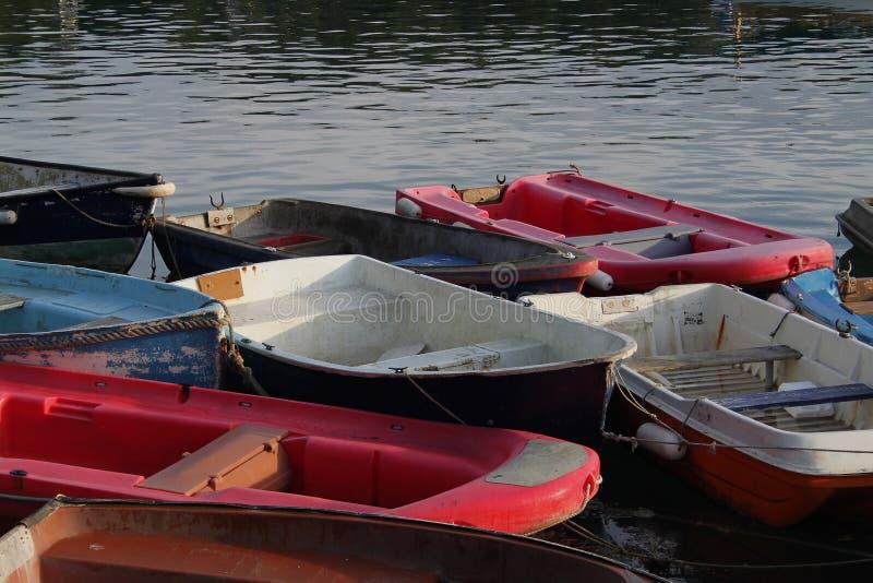Escena tranquila de los barcos de rowing fotografía de archivo