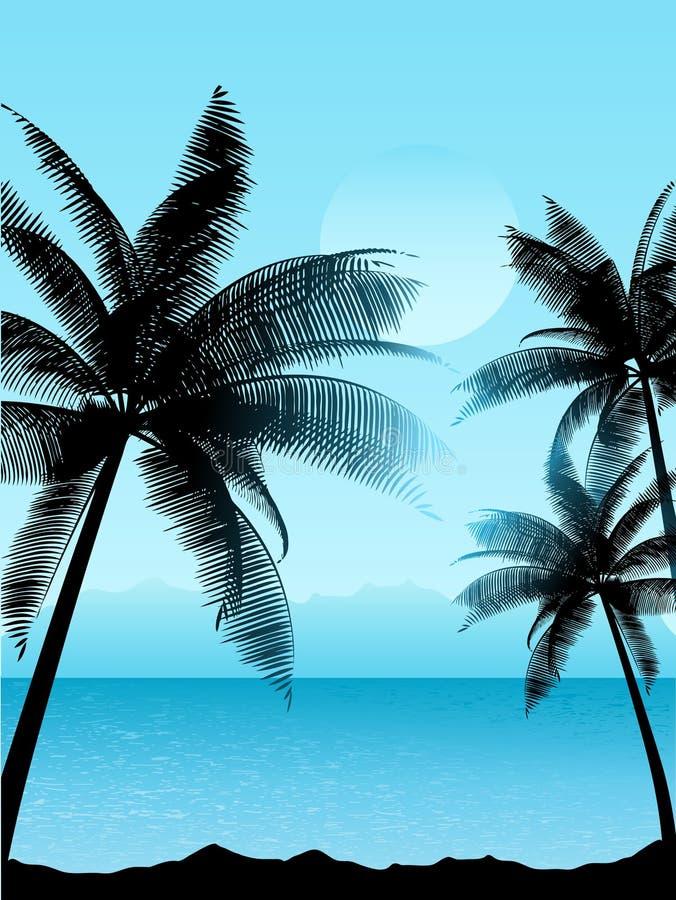 Escena tropical ilustración del vector