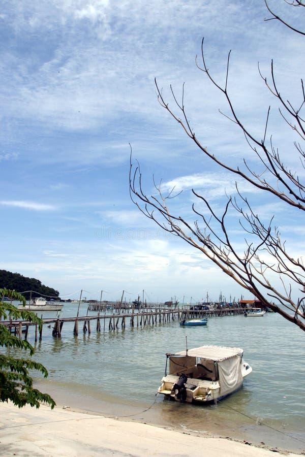 Escena tropical de la playa foto de archivo