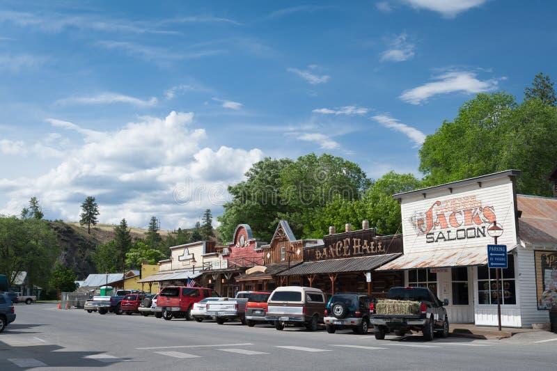 Escena urbana de la calle de Winthrop imagen de archivo libre de regalías