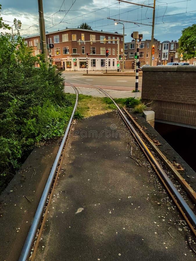 Escena urbana en Voorburg La Haya Den Haag, los Países Bajos fotos de archivo