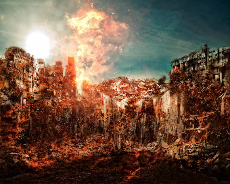 Escenario apocalíptico dramático libre illustration