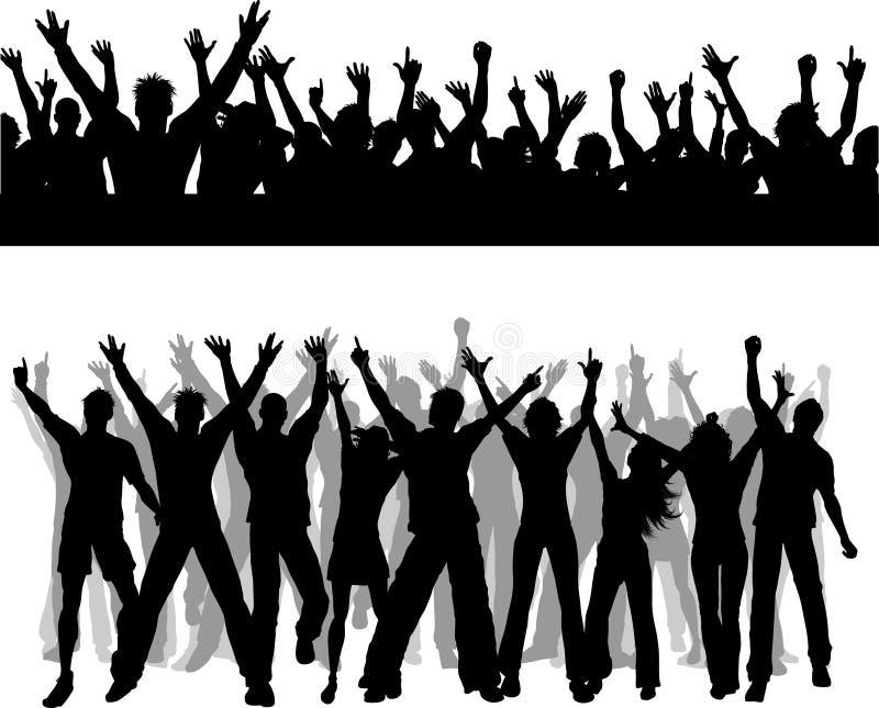 Escenas de la muchedumbre libre illustration