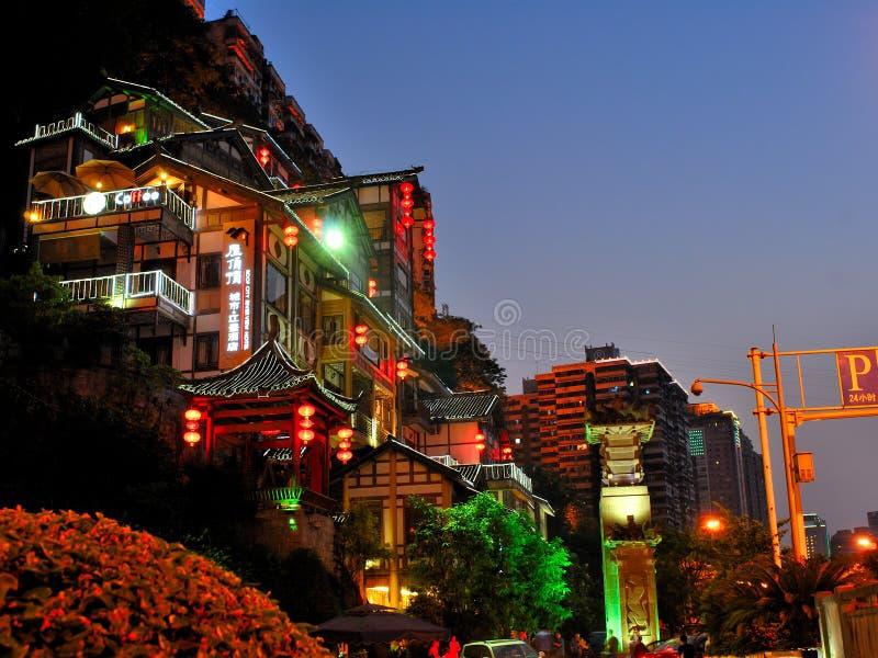 Escenas de la noche de Chongqing imágenes de archivo libres de regalías