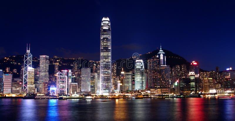 Escenas de la noche de Hong-Kong fotografía de archivo libre de regalías