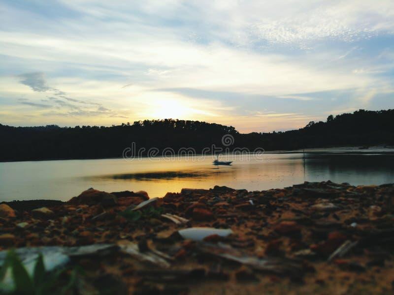 Escenas de la puesta del sol imagen de archivo