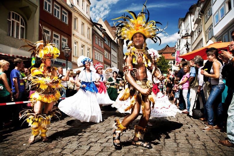 Escenas de la samba foto de archivo