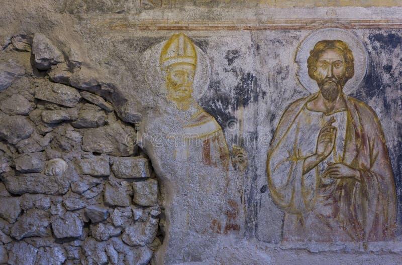 Escenas del fresco de la pasión de Cristo foto de archivo libre de regalías