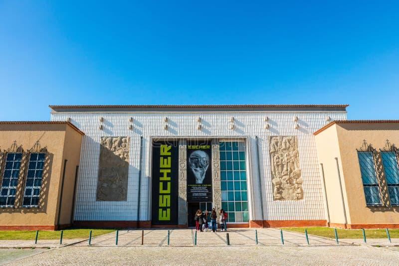 Escher exhibition at the Museu de Arte Popular in Belem area of Lisbon. stock images