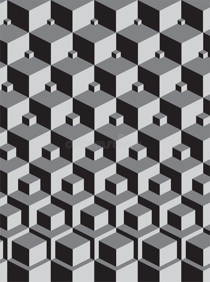 Escher ha ispirato l'impilamento dei cubi illustrazione vettoriale