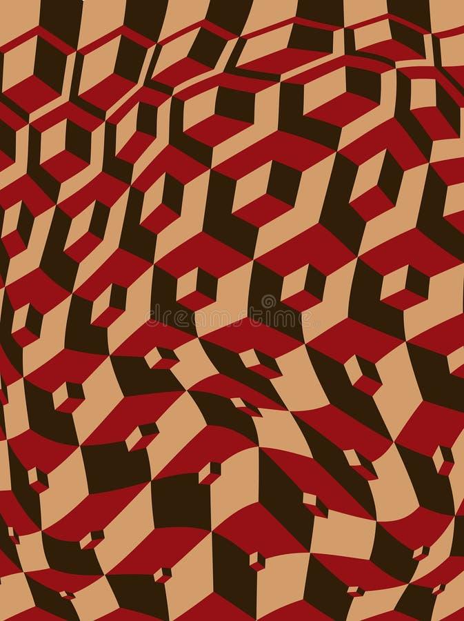 Escher inspirou cubos entortados ilustração do vetor