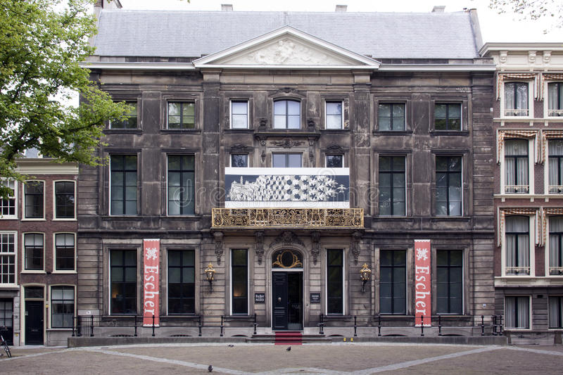 Escher-Museum am lange voorhout in Den Haag stockbilder