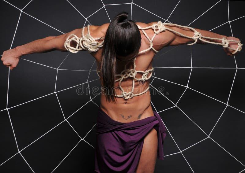 Esclavage masculin image libre de droits