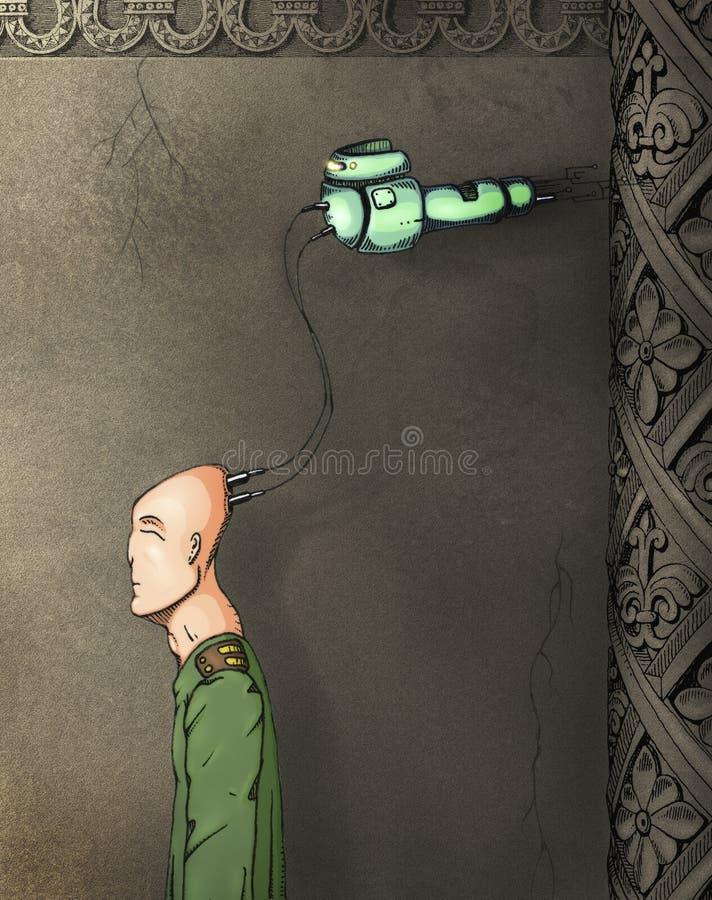 Esclave cybernétique illustration stock