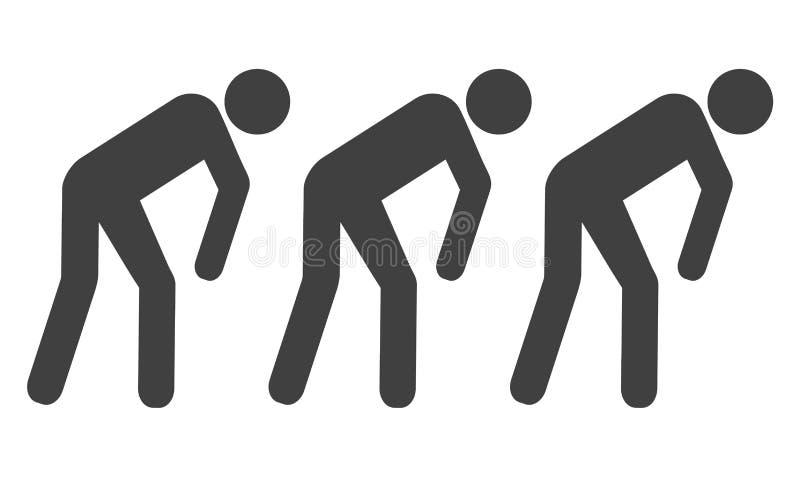Esclavo People Icon del vector stock de ilustración