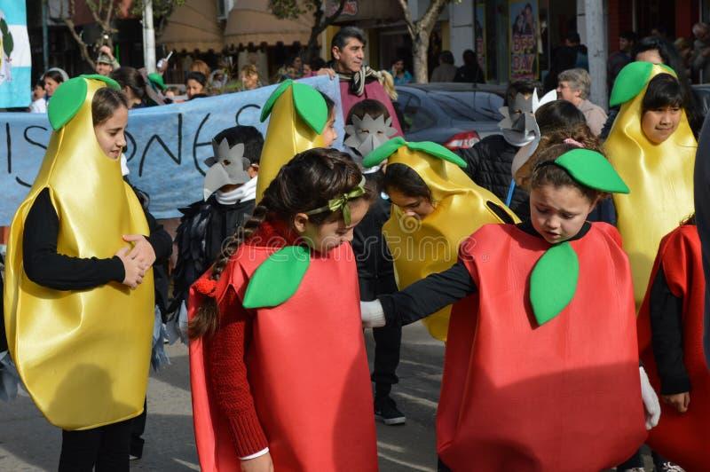 Escobar, Argentyna, osiem Lipiec dwa tysiące, szesnaście i Childre fotografia stock