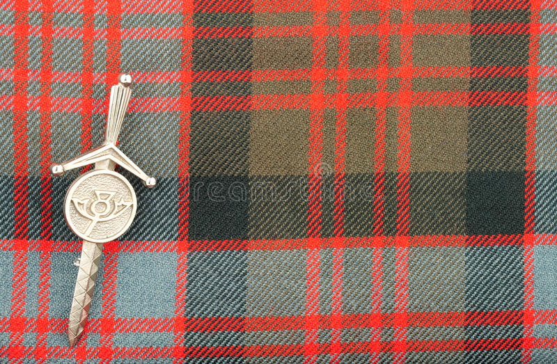 Escocés tradicional Donald Clan Tartan Wool Fabric fotos de archivo libres de regalías