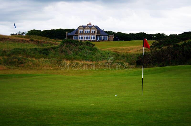 Escocia liga el campo de golf del estilo foto de archivo