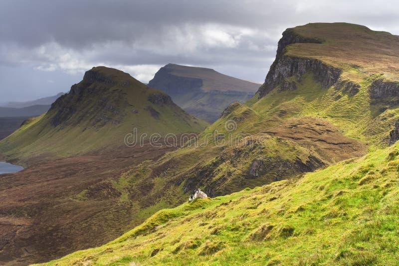 Escocia- Quirang en la isla de Skye foto de archivo