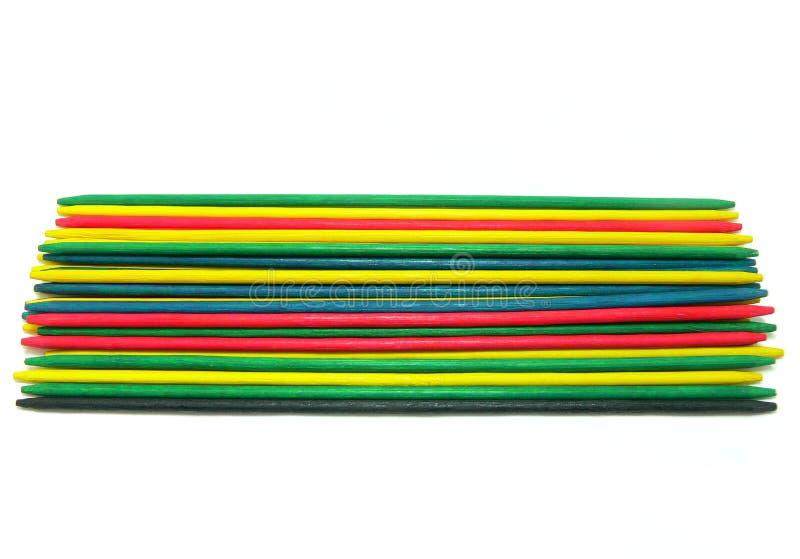 Escoger-para arriba-palillos coloreados fotografía de archivo libre de regalías