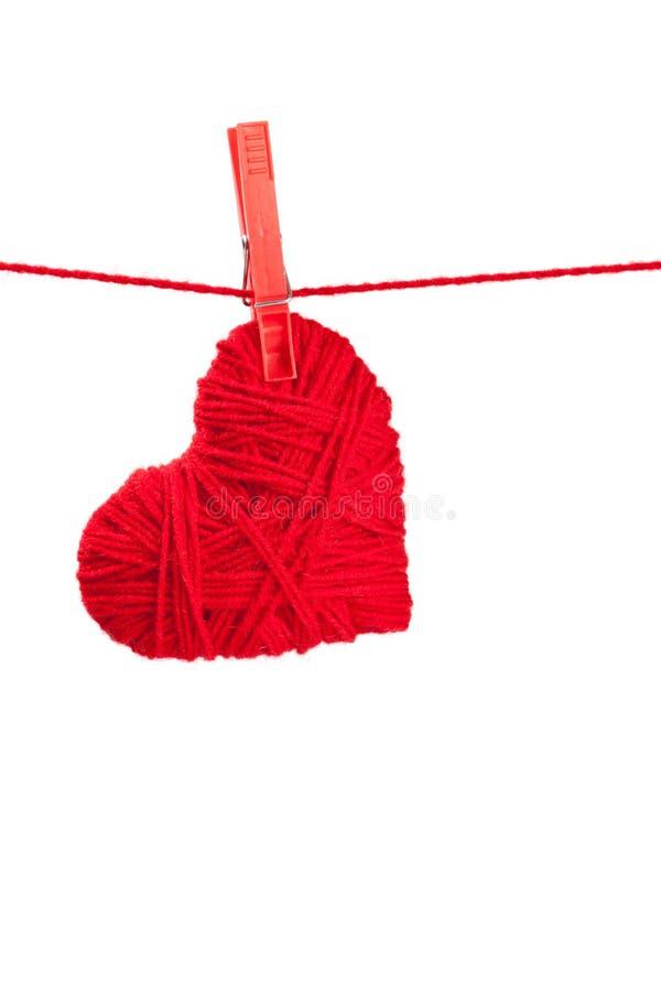 Escoja el corazón de la cuerda de rosca fotos de archivo libres de regalías