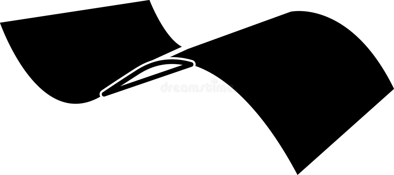 Escoja el papel torcido en el vector dimensionable editable del ejemplo del icono medio en negro ilustración del vector