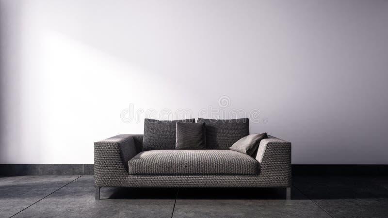 Escoja el sofá de dos asientos ilustración del vector