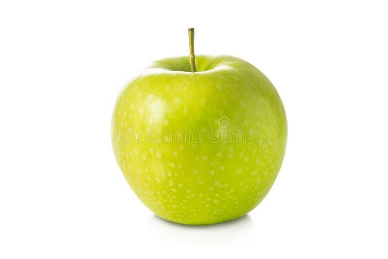 Escoja la manzana verde fresca aislada en el fondo blanco imagenes de archivo