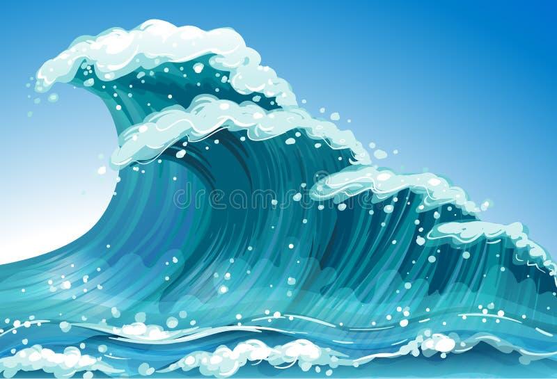 Escoja la onda stock de ilustración