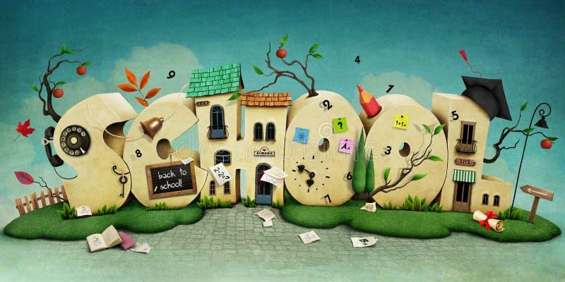 escola ilustração stock