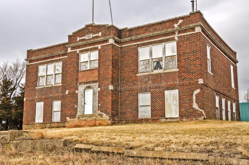 Escola abandonada imagens de stock