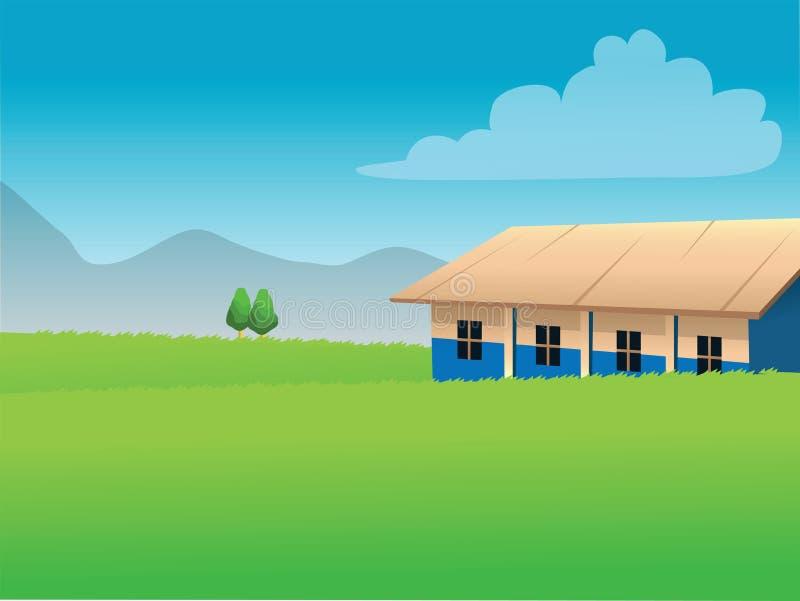 Escola africana ilustração royalty free