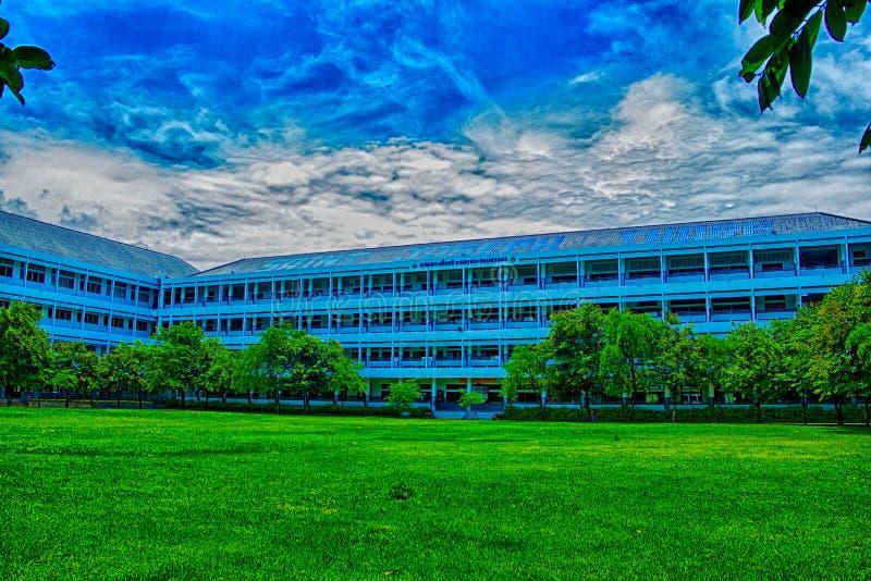 escola azul imagem de stock royalty free