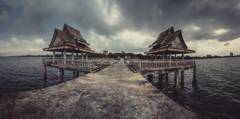 Escola budista de Jittapawan - Tailândia fotos de stock