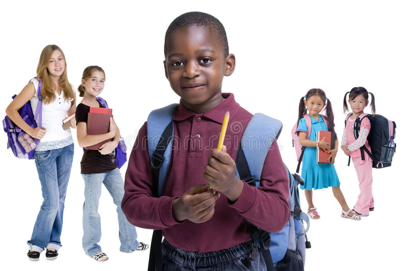 A escola caçoa a diversidade imagem de stock