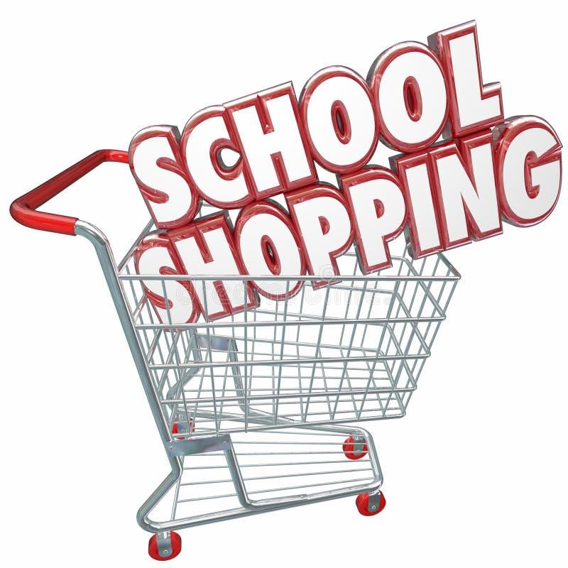 A escola 3d de compra exprime o carro que compara a melhor faculdade U da educação ilustração royalty free