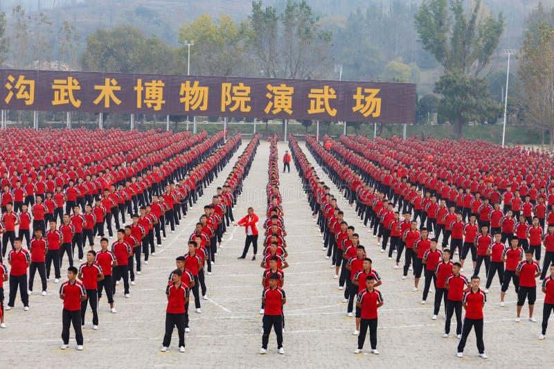 Escola de artes marciais Shaolin fotos de stock royalty free