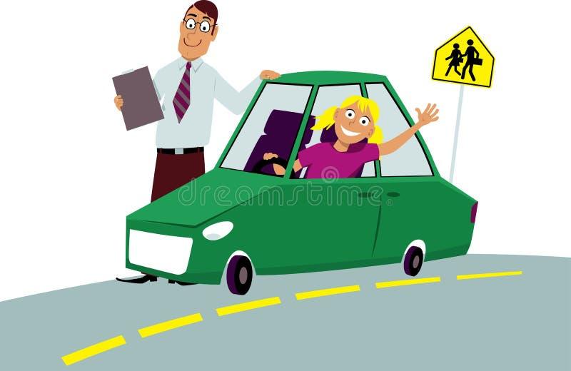 Escola de condução ilustração do vetor